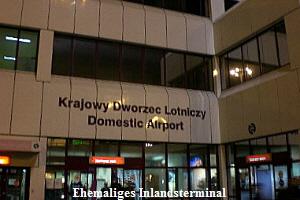 Ehemaliges Inlandsterminal am Flughafen in Warschau