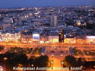 Warschau Kulturpalast Ausblick Süden