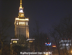 Warschau Kulturpalast Nacht