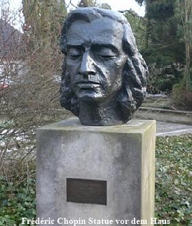 Frédéric Chopin Statue vor dem Haus