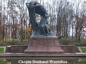 Chopin Denkmal Warschau