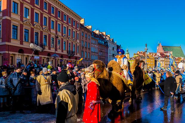 Dreikönigsumzug in Warschau