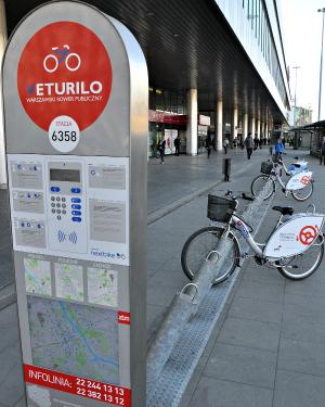 Fahrrad Verleih Veturilo in Warschau
