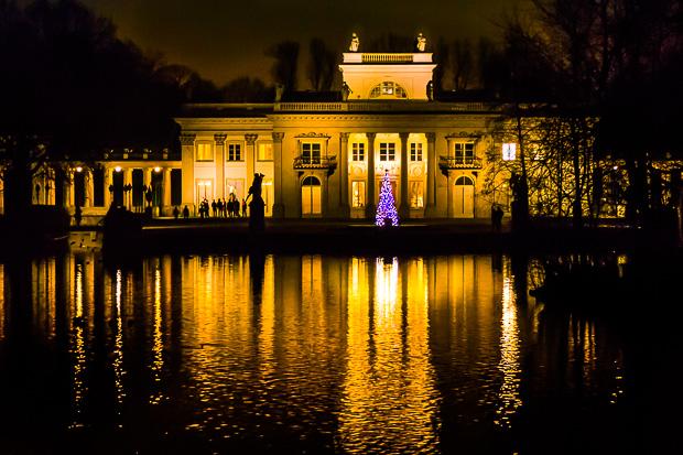Lazienki Park Weihnachtszeit