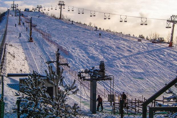 Skifahren in Warschau