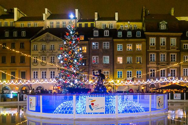Weihnachten in der Warschauer Altstadt