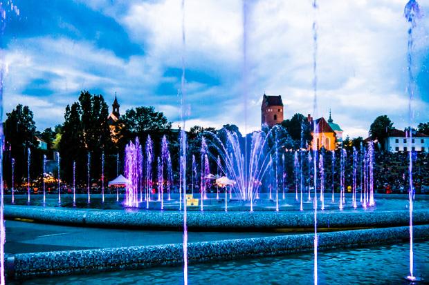 Multimediabrunnen in Warschau