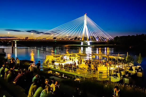 Weichsel Party in Warschau