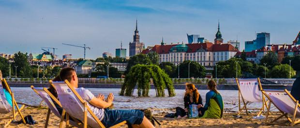 Weichselstrand in Warschau
