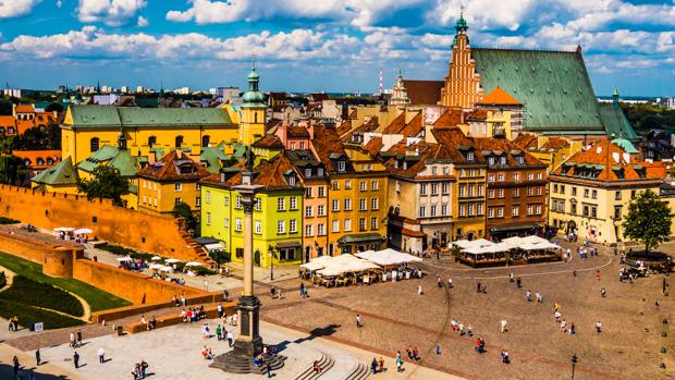 Warschauer Altstadt im Sommer