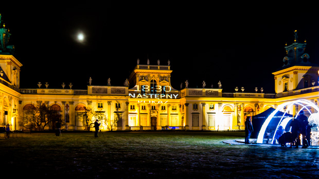Wilanow Palast Mapping